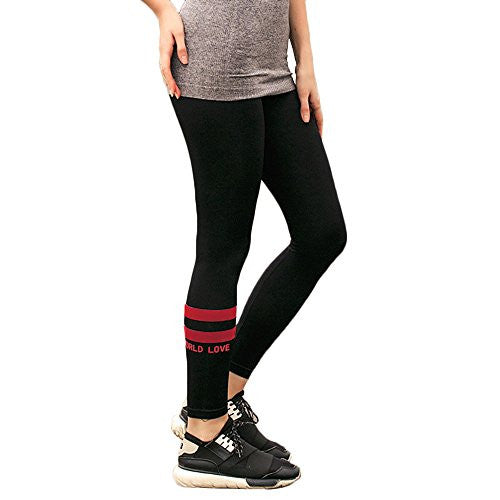 Juniors Stretch Fit Leggings with Double Stripe Design for Yoga, Sports, Running, Gym - Pop Fashion