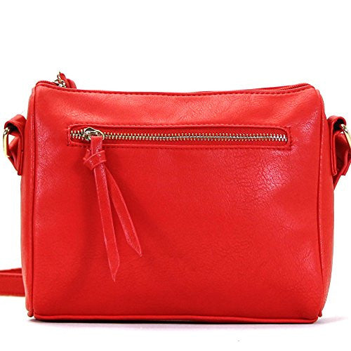 Pop Fashion Womens Classic Shoulder Bag Purse Crossbody Bag (Red)