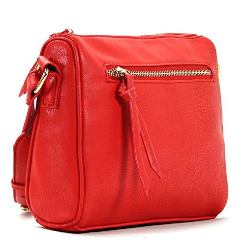 Pop Fashion Womens Classic Shoulder Bag Purse Crossbody Bag (Red) - Pop Fashion