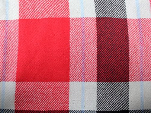 Plaid Pattern Scarf with Ultra Soft Feel for Men and Women (Red/Navy/Tan) - Pop Fashion