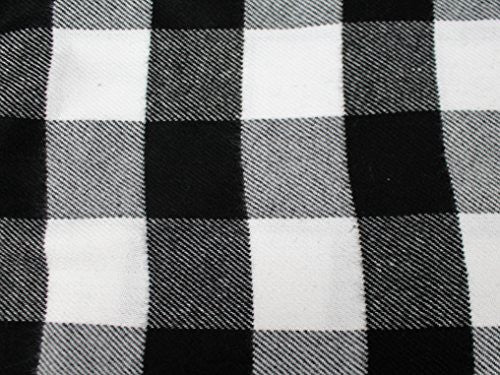 Plaid Pattern Scarf with Ultra Soft Feel for Men and Women Black//White