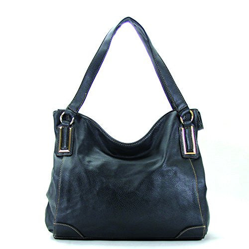 Pop Fashion Womens Trendy Slack Purse Handbag Tote Bag (Black)