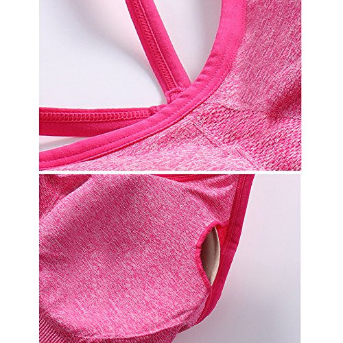 Womens Activewear Tank Top Sports Bra with Padded Comfort Support Athletic Wear - Pop Fashion