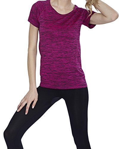 Womens Activewear Short Sleeve Moisture Wicking TShirts, Sports Athletic Shirts - Pop Fashion