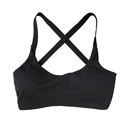 Women's Sports Bra with Criss Cross Straps and removable padding - Pop Fashion
