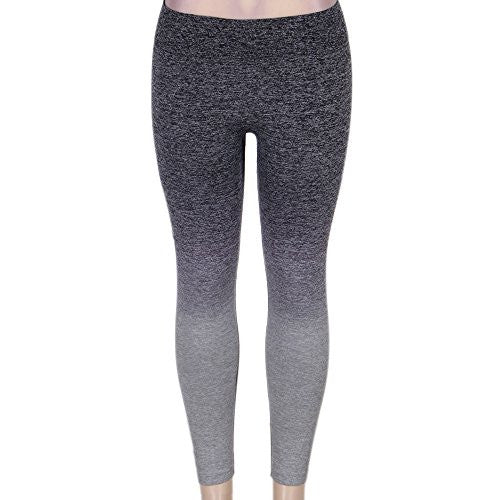 Womens Leggings Pants for Yoga, Workout, Running, Crossfit - Grey Gradient - Pop Fashion