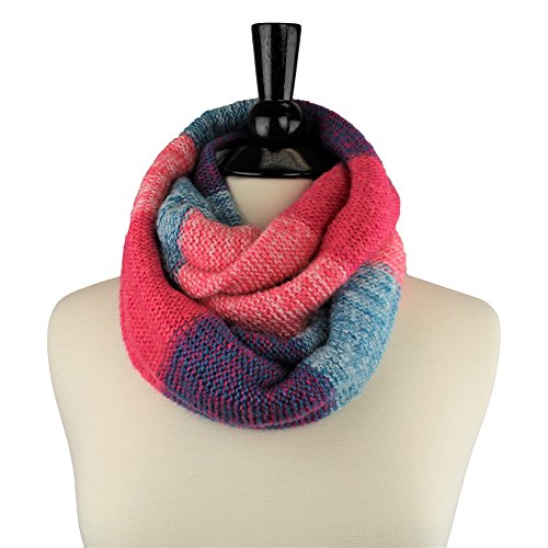 Pop Fashion Womens Multi-Color Thick Warm Winter Knit Infinity Loop Scarf - Pop Fashion