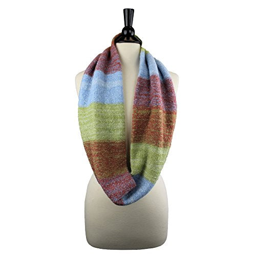 Pop Fashion Womens Multi-Color Thick Warm Winter Knit Infinity Loop Scarf