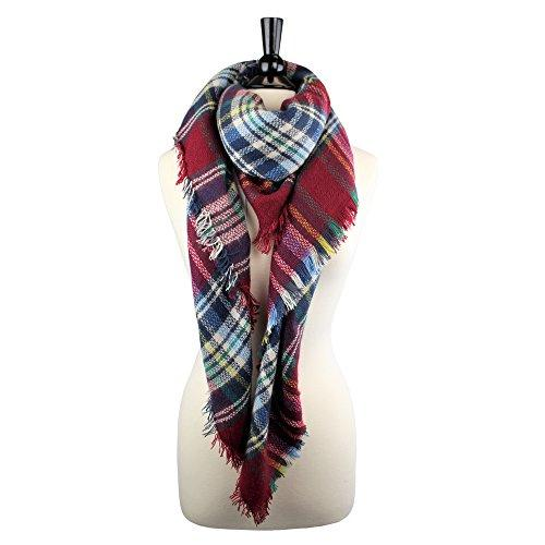 Pop Fashion Soft Blanket Scarf Ultra Soft Feel and Plaid Design