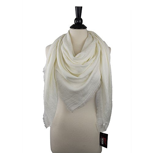 Pop Fashion Womens Soft Lightweight Solid Color Floral Evening Wrap Shawl Scarf