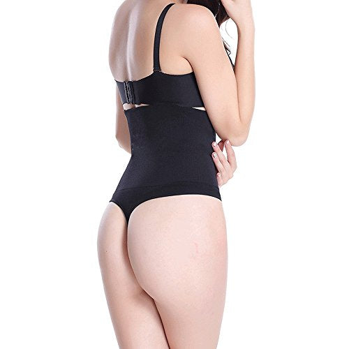 Pop Fashion Womens Shapewear Thong Panties Bodysuit High Waist Tummy Control Body Shaper Thong Underwear - Pop Fashion