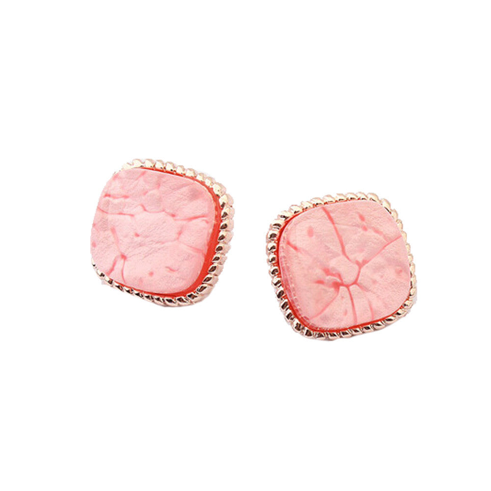 Blue/Pink/White Statement Earrings - Pop Fashion