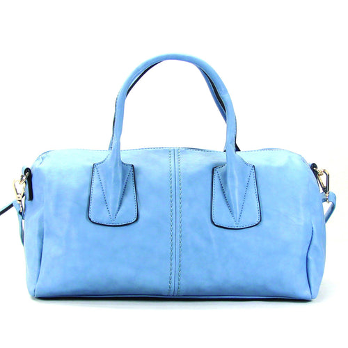Casual Round Purse Handbag Tote Bag - Sky Blue