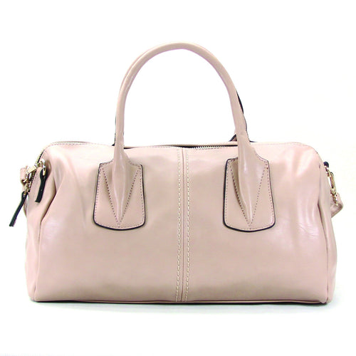 Casual Round Purse Handbag Tote Bag - Cream