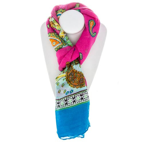 Summer Paisley Scarf
