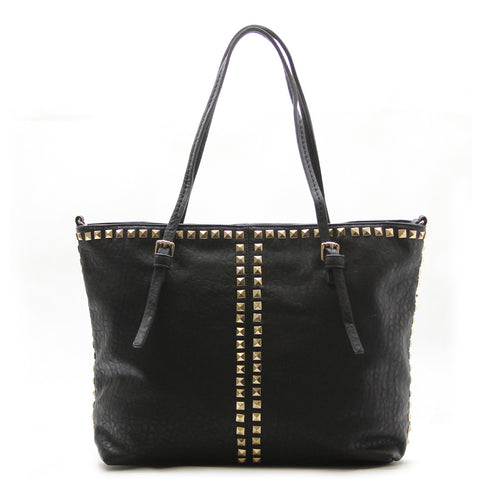 Studded Weekend Tote - Black