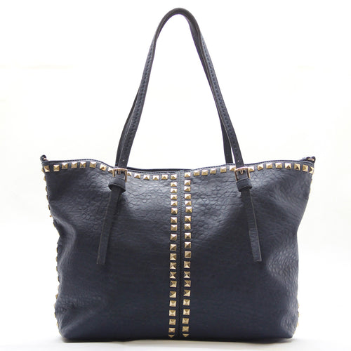 Studded Weekend Tote - Blue