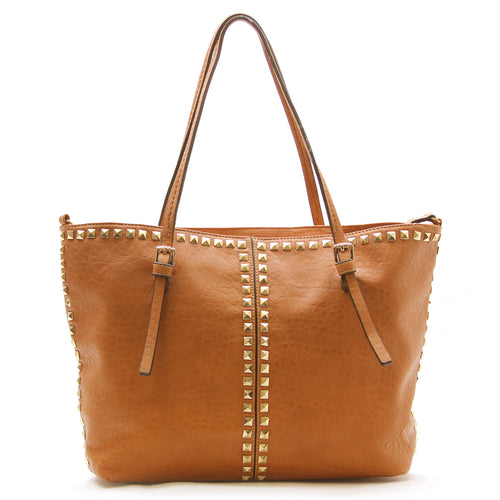 Studded Weekend Tote - Tan