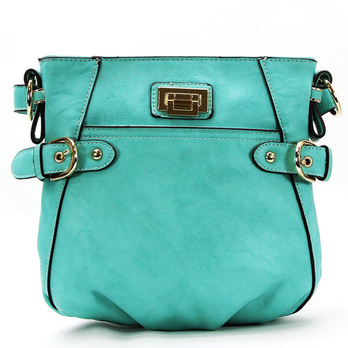 Leather Weekday Crossbody - Blue