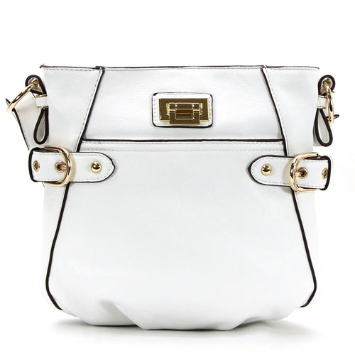 Leather Weekday Crossbody - White