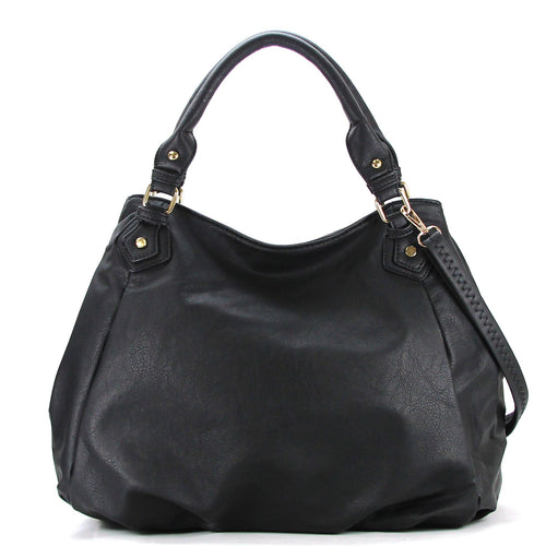 Casual Slack Purse Handbag Tote Bag - Black