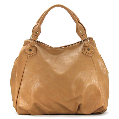 Casual Slack Purse Handbag Tote Bag - Toasted Khaki