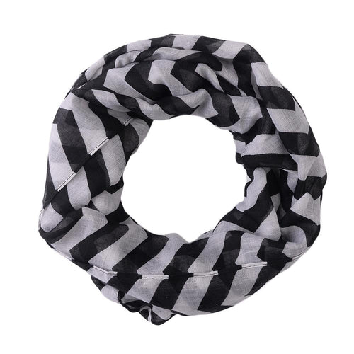 Pop Fashion Women's Infinity Scarf, Chevron Scarf Design, Infinity Scarves