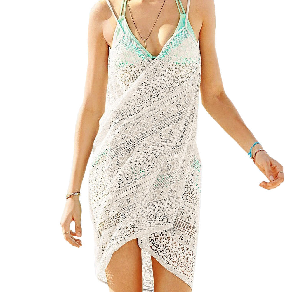 Pop Fashion Womens Summer Beachwear Swimsuit Cover Up Resort Swimwear Wrap