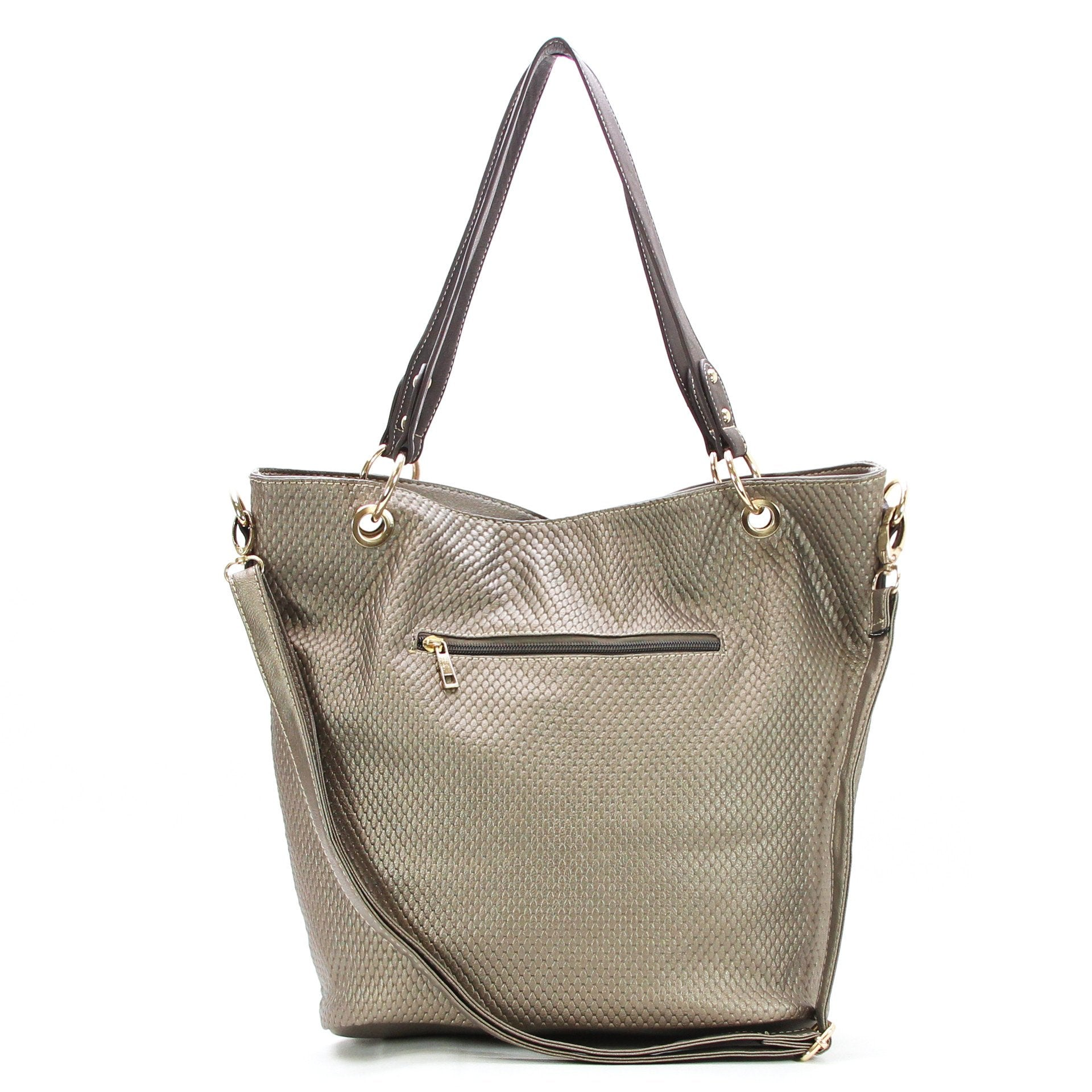 Casual Everyday Tassell Purse Handbag Tote Bag-Brown - Pop Fashion