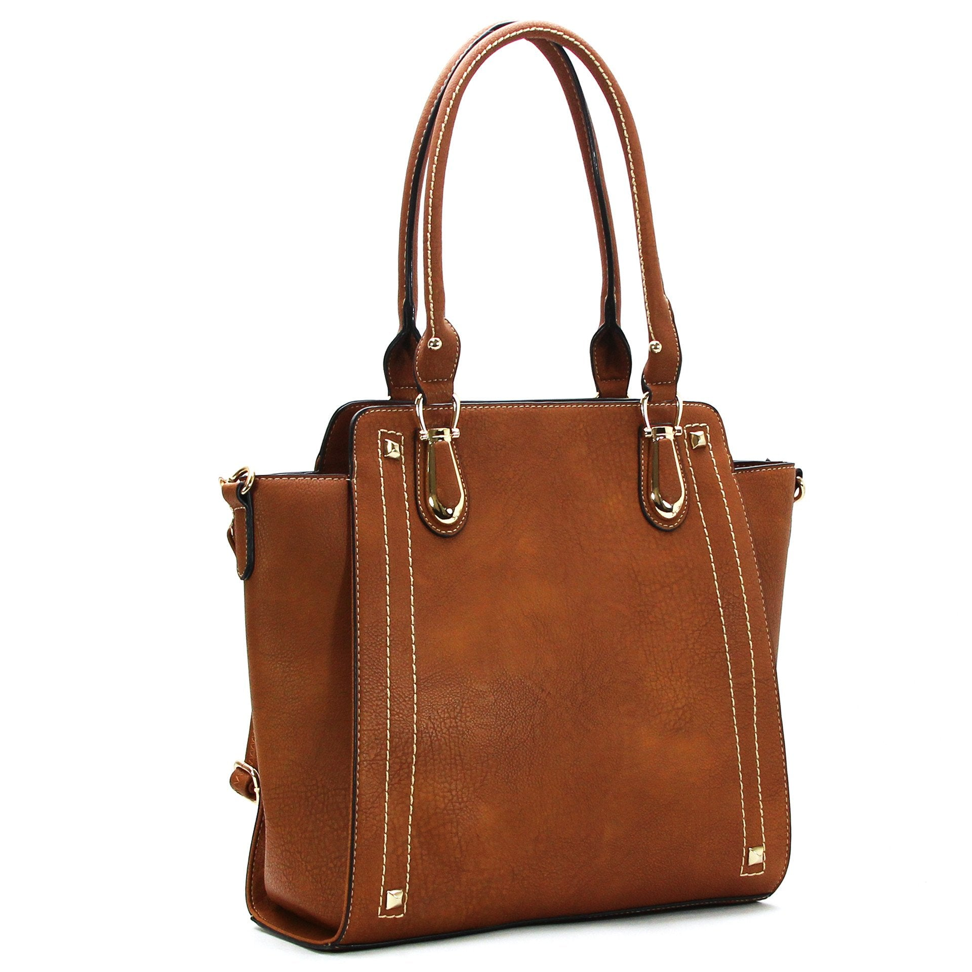 Classic Purse Handbag Tote Bag- Redwood - Pop Fashion