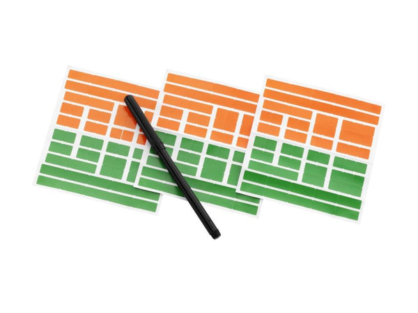 Sasco 2019/2020 Unmounted Holiday Wall Planner with wet wipe pen & sticker pack | 420 x 420mm