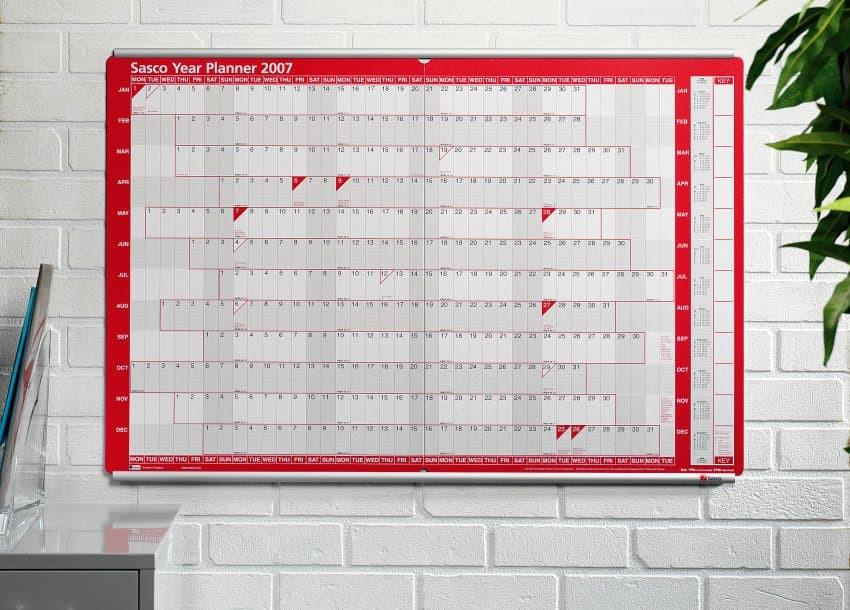 Sasco Mounted Wall Planner Planner Track
