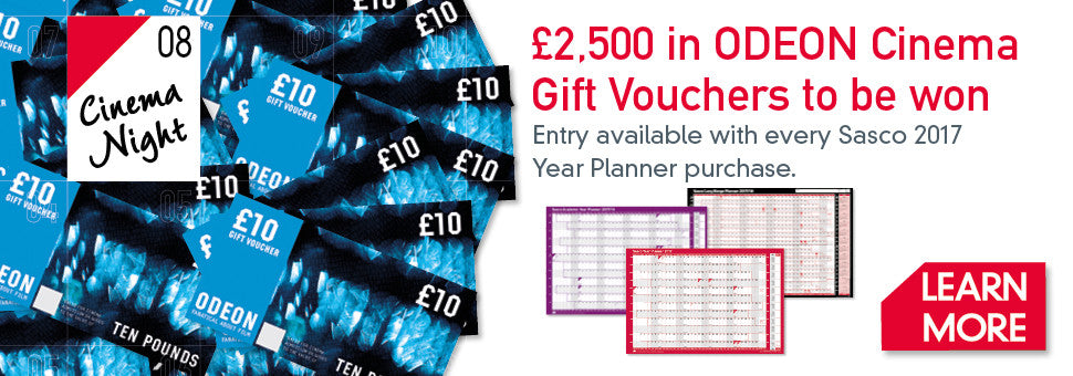 £2,500 Pounds in ODEON gift vouchers to be won!