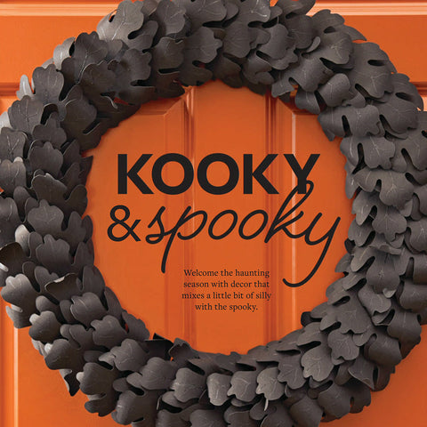 As Seen In Better Homes & Gardens Holiday Crafts - Halloween Black Leaf Wreath