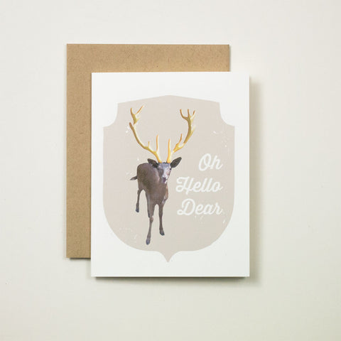 Oh Hello Dear Deer Greeting Card