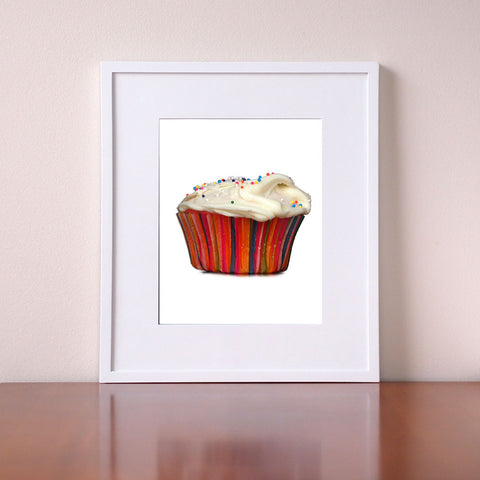 Cupcake Kitchen Decor - Cupcake Art - Giclee Print by BubbleGumDish
