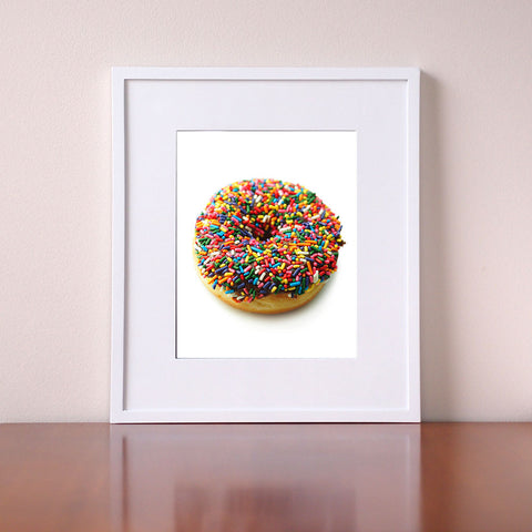 Kitchen Wall Art - Sprinkle Donut  - Giclee Print