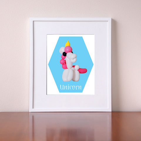 Unicorn Art - Balloon Animals - Giclee Print by BubbleGumDish