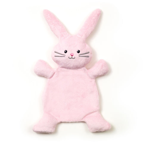 Flat Little Bunny Rabbit in Pink by BubbleGumDish