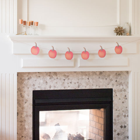 Thanksgiving Pumpkin Garland for Mantle