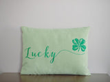 Lucky Embroidered Pillow