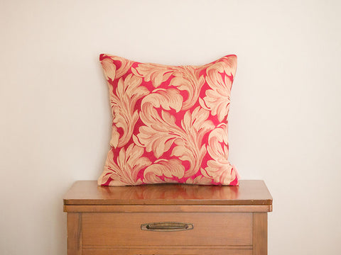 Baroque Scroll Valentines Day Pillow Cover