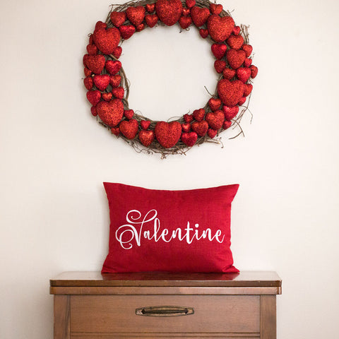 Red Valentine Pillow