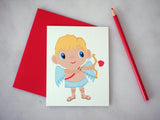 Cupid Valentine's Day Greeting Card