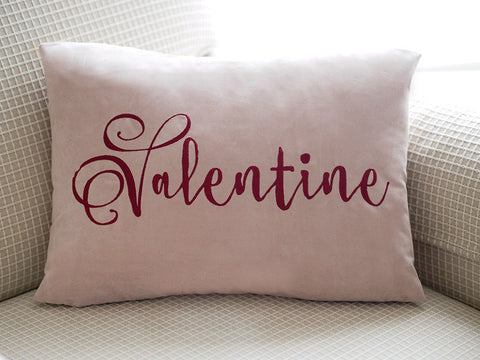 Valentine Embroidered Pillow