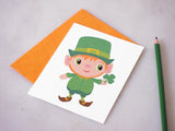 Leprechaun St. Patrick's Day Greeting Card by BubbleGumDish