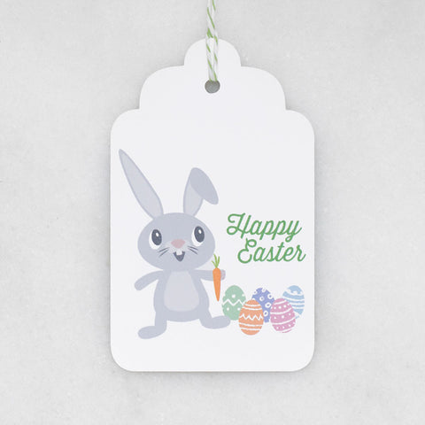 Happy easter bunny gift tags bubblegumdish easter bunny gift tags negle Image collections