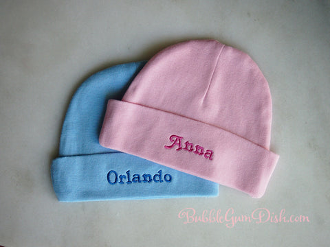 Beanie Any name embroidered. Personalised Baby Hat