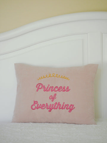 Princess of Everything Pillow Cover by BubbleGumDish.com