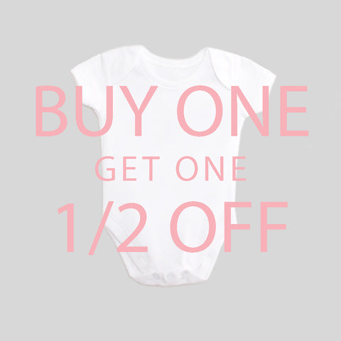 Buy One Get One Half Off! Sale! Baby Bodysuit